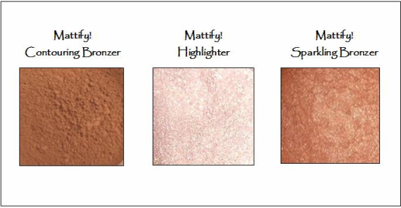 contouring bronzer and highlighter to create a natural makeup look mattify cosmetics natural products for oily skin and acne prone skin mineral makeup