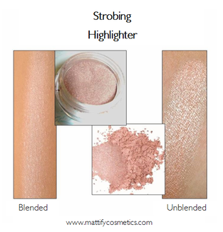 powder highlighter for strobing mattify cosmetics long lasting makeup for oily skin oil absorbent highlighter for glowing skin looks product swatch