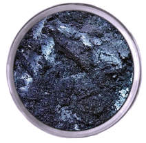 Sparkly navy blue eye shadow Mattify cosmetics dark icy blue eye makeup for winter smoky eye holiday eyeshadow eye liner to use besides black long lasting eye makeup with built in primer for oily eye lids