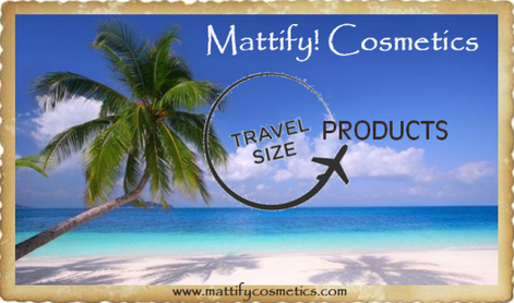travel size products and makeup skin care by Mattify cosmetics powder for oily skin miniature makeup jars tiny products that fit in pockets for skin care moisturizer and face wash