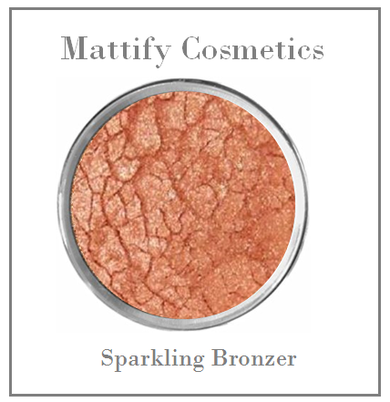 sparkly bronzing powder to brighten complexion mattify cosmetics highlighting bronzer for an all over glow natural makeup look