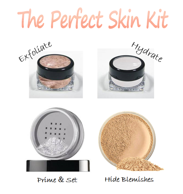 Makeup for oily skin kit by Mattify cosmetics comes complete with exfoliator to get rid of blackheads and unclog pores plus light weight moisturizer for acne prone skin to prevent peeling along with ultra matte powder for oily skin that doubles as primer and long lasting foundation to cover blemishes without clogging pores