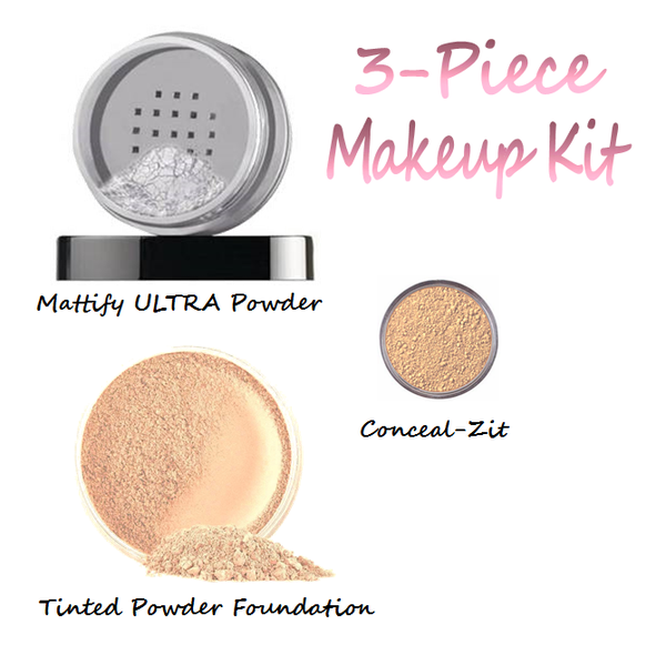Long lasting natural oil control makeup for oily skin by Mattify cosmetics products for acne prone skin setting powder to control oil products to prevent pores from getting clogged and light weight concealer that won't cause breakouts