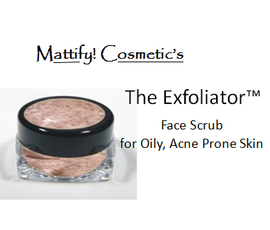 how to unclog pores and remove blackheads  by scrubbing dry skin off face using Mattify cosmetics the exfoliator to remove old skin cells for soft glowing skin